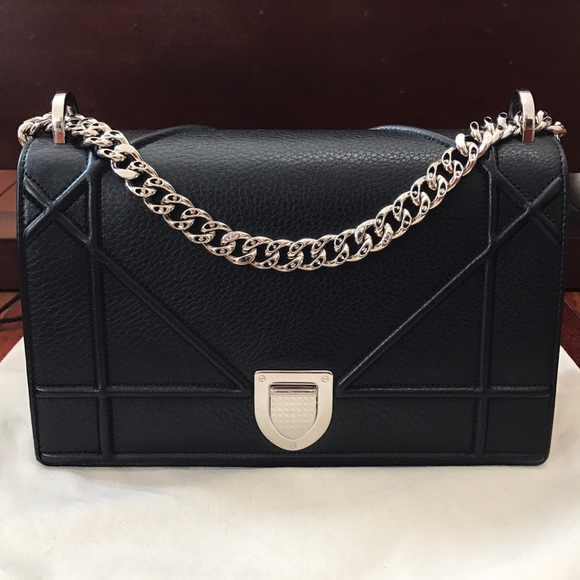 97688694c3d Dior Bags   Auth Christian Medium Ama Black Grained   Poshmark
